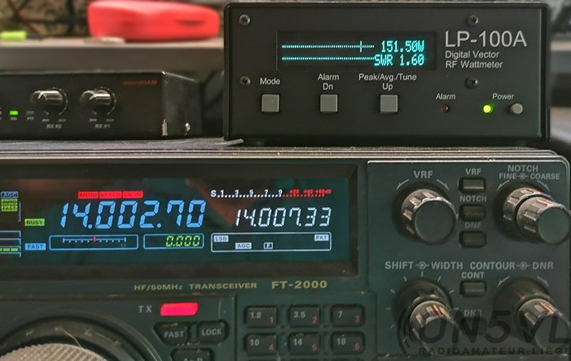 14.002 Mhz = ROS 1,60:1