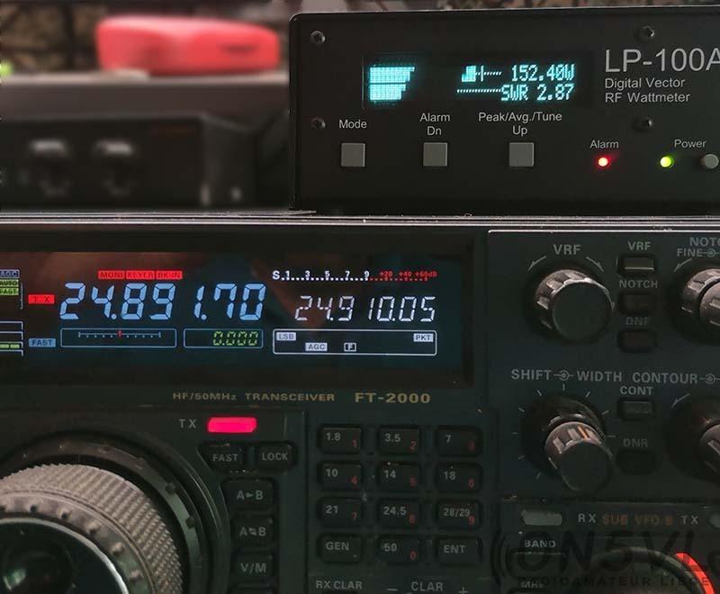 24.890 Mhz = ROS 2,87:1 (mauvais)