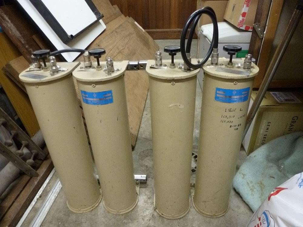 Anciennes cavités du relais ON0LG VHF de Liège utilisées jusqu'en 2018