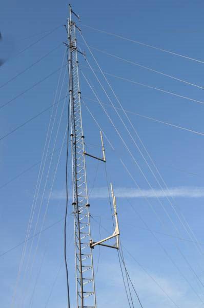 Vue des antennes 2m et 70cm
