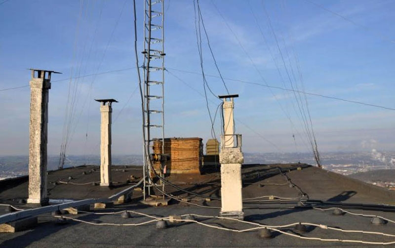 Vue du toit du building Europa à Seraing