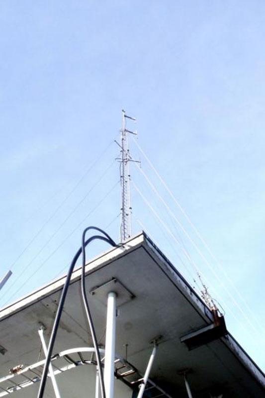 Vue du pylône ON0LG et broadcast