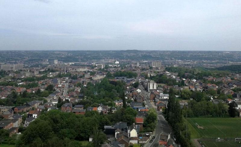 Vue des environs depuis la tour vers le nord
